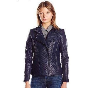 Badgley Mischka Hayden quilted leather jacket